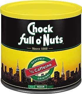 Chock Full o'Nuts Coffee, Heavenly Half Caffeine, Ground, 24 Ounce