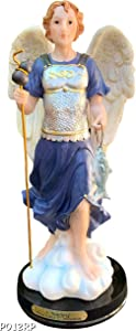 """Luciana Collection Archangel Raphael Holy Figurine Religious Decoration Statue 12"""" Tall"""
