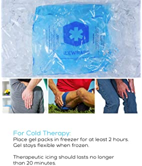 "IceWraps Gel Ice Pack Reusable Large Hot Cold Pack for Therapy or Heating Pad Microwavable for Injury Pain Relief 10""..."