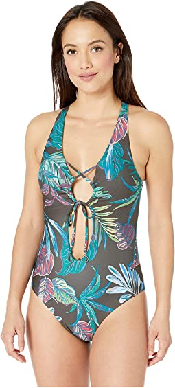 Over The Moon Tie Front One-Piece