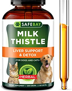 Sponsored Ad - Milk Thistle for Dogs & Cats - Liver Support & Detox Supplement - Made in USA - Natural Milk Thistle Extrac...