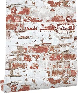 HaokHome 2025 Brick Wallaper Distressed Brick Wallpaper 20.8