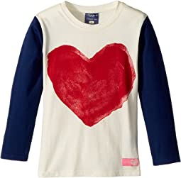 Long Sleeve Heart Tee (Toddler/Little Kids)