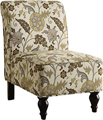 Superb Amazon Com Acme Ollano Pattern Fabric Accent Chair Kitchen Lamtechconsult Wood Chair Design Ideas Lamtechconsultcom