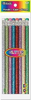 BAZIC Metallic Glitter Wood Pencil w/Eraser, Latex Free Erasers, Back to School Classroom Rewards, Gift for Kids Students ...