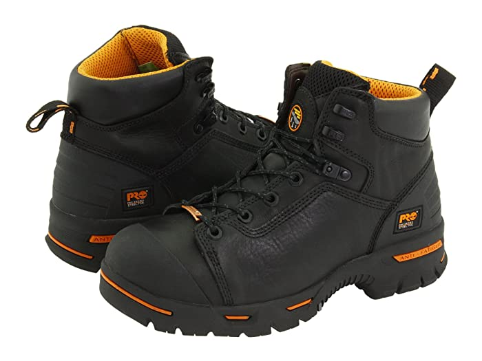 Timberland PRO  Endurance PR 6 Waterproof Steel Toe (Black) Mens Work Lace-up Boots