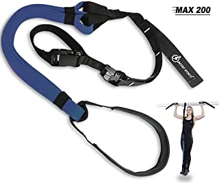 INTENT SPORTS Pull Up Assist Band MAX 200 - UP to 200 LB of Assistance! - Chin Up - Workout eBook! - High-Performance - Resistance Bands - Get Stronger - Crossfit or Workout Program (Patent Pending)