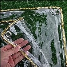 IDWOI schaduw en regenbestendig zwembad tafel cover 0,3 mm transparant zacht PVC dekzeil regendichte doek Plant Keep Warm ...