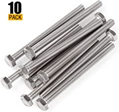 Eliseo M8 Hex Bolt, 10 Pcs M8-1.25 x 100mm Hex Head Screw Bolts, A2-70(304) Stainless Steel Fully Threaded Hex Tap Bolts