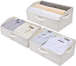 StorageWorks Woven Diamond Storage Bins, Trapezoid Closet Basket, Collapsible Shelve Basket for Storage, Jumbo, 3-Pack