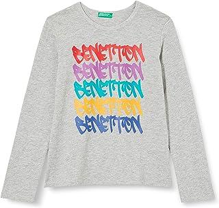 United Colors of Benetton 3F93C14TT Maglietta, Melange Light Grey 501, L Bambina