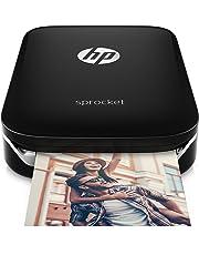 HP Sprocket Portable Photo Printer, print social media photos on 2x3 sticky-backed paper - black (X7N08A) 並行輸入