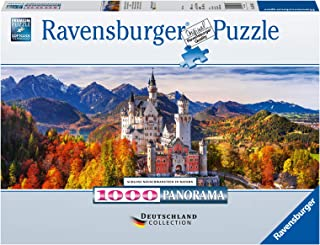 Schloss in Bayern. Panorama Puzzle 1000 Teile