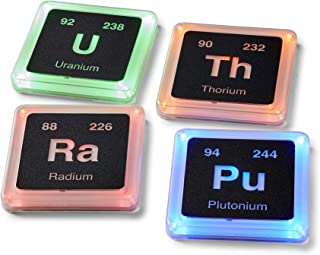 Radioactive Elements Glowing Drink Coasters | Set of 4