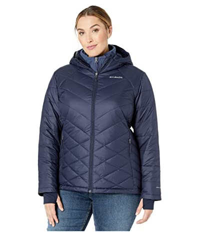 Columbia Plus Size Heavenly Hooded Jacket (Dark Nocturnal) Women