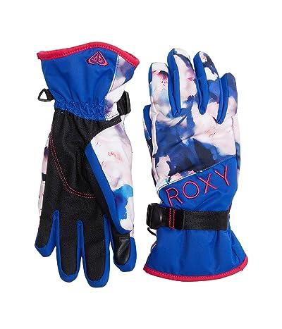 Roxy Jetty Snowboard/Ski Gloves (Mazarine Blue Mind Jingle) Extreme Cold Weather Gloves