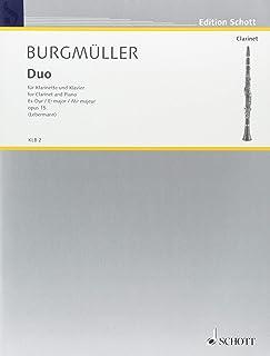 ブルグミュラー : 二重奏曲 変ホ長調 作品15 (クラリネット、ピアノ) ショット出版