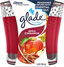 Glade Candle Jar, Air Freshener, Apple Cinnamon, 3.4 oz