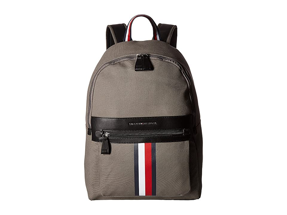 Tommy Hilfiger Icon Backpack Canvas (Castlerock) Backpack Bags