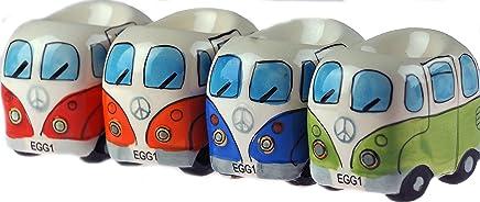 Preisvergleich für Set von 4 Retro VW Bus Stil Neuheit Eierbecher