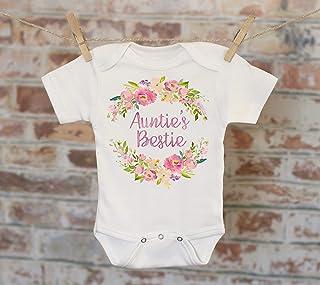 99e87a530 Auntie's Bestie Onesie®, Aunt Onesie, Gift For Niece, Cute Baby Bodysuit,