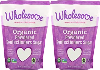 Wholesome Sweeteners, Inc., Organic Powdered Confectioners Sugar, 16 oz (454 g) - 2pcs