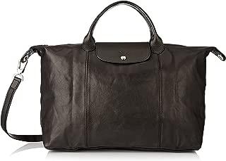 Longchamp Le Pliage Cuir Top-Handle Bag Large Black One Size