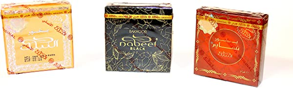 Bakhoor Nabeel 4 Variety Pack Incense 1 Each Of Bakhoor Nabeel Touch Me Nasaem Black Etisalbi And Maamul
