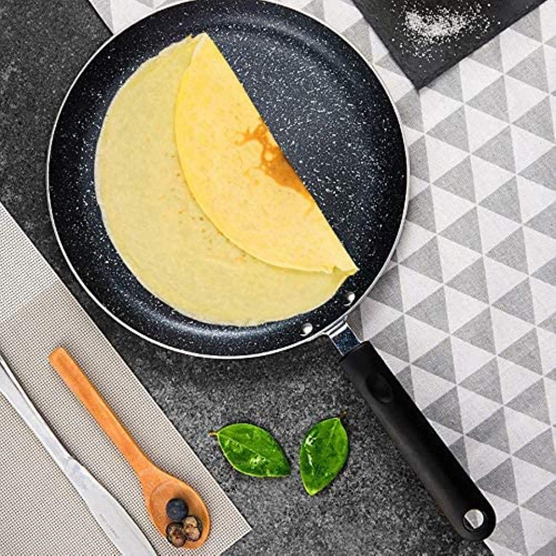 DXDUI Non-Bâton Frying Pan Maifan Pierre Wok en Alliage D'Aluminium Pan Pancake Egg Steak Frying Pot Pizza Casseroles Outils De Cuisine 18cm