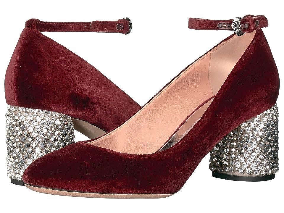 Rochas RO29220-06260 (Velluto Rubino/Ricamo Rombi) High Heels