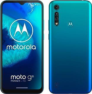 Motorola Moto G8 Power lite XT2055 Dual-SIM 64GB Factory Unlocked 4G/LTE Smartphone (Arctic Blue) - International Version