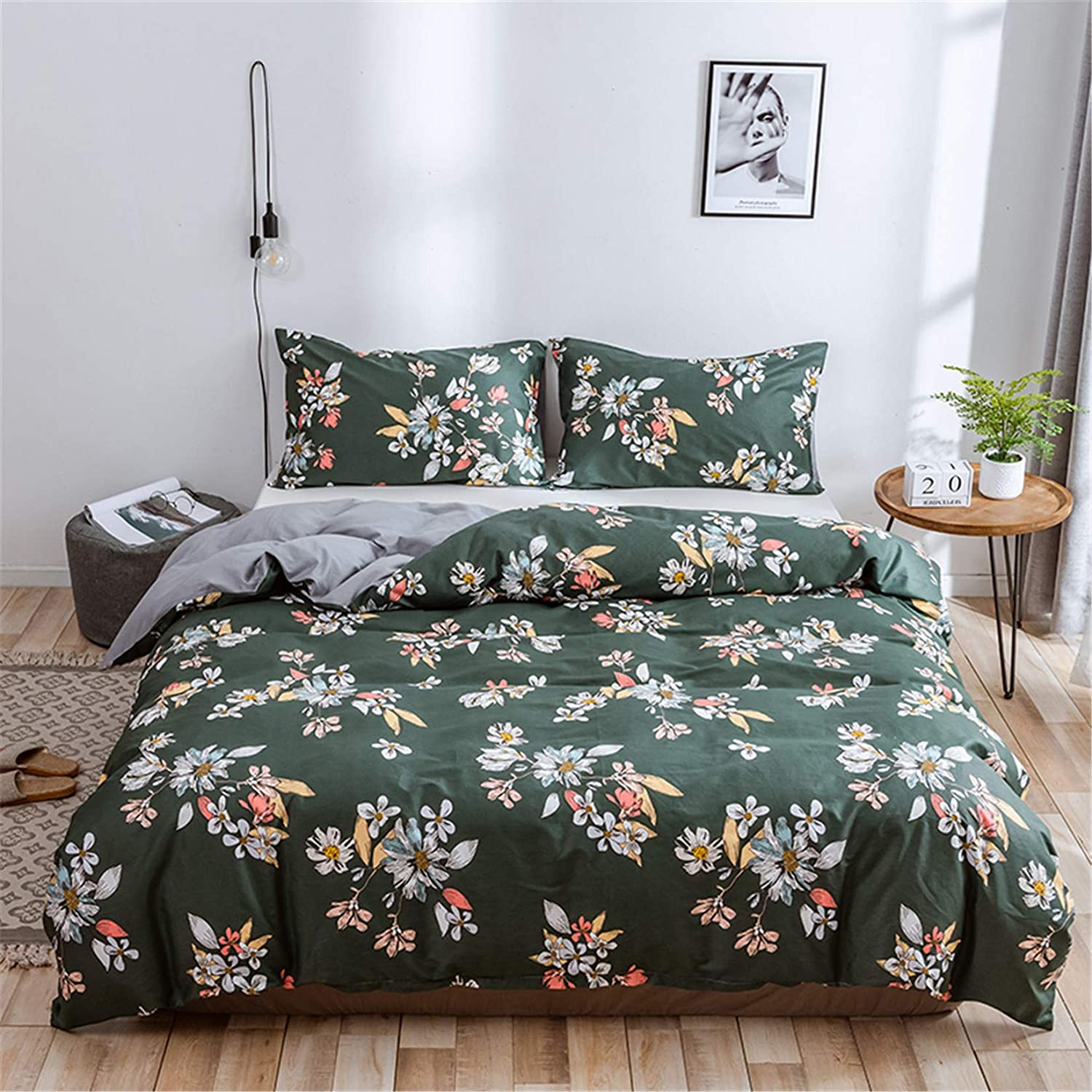 Floral Ranking integrated High material 1st place Queen Bedding Duvet Cover Set Leaves Garden - Flower Boho
