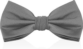 Bow Ties For Men - Mens Woven Pre Tied Bowties For Men Bowtie Tuxedo Solid Color Formal Bow Tie