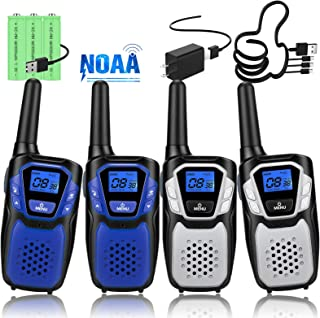 Topsung Walkie Talkies for Adult, Easy to Use Rechargeable Long Range Walky Talky Handheld Two Way Radio with NOAA for Hik...