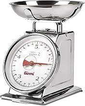Girmi PS90 Balance mécanique de cuisine, 5 kg, acier inoxydable