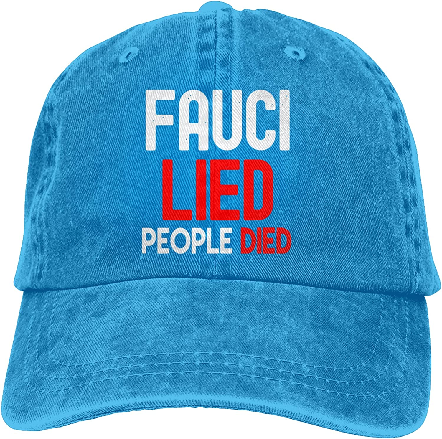 Fauci Lied People Died Hat Dr Fauci Liar Baseball Cap Fire Fauci Sun Protection Trucker Dad Hat