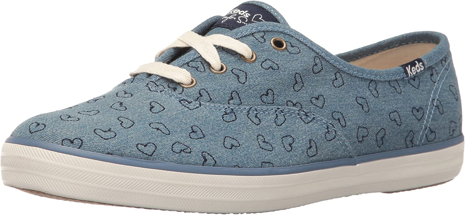 Keds Womens Taylor Swift Denim Heart Embroidery Fashion Sneaker