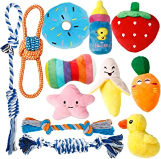 Toozey Puppy Toys for Teething Small Dogs, 12 Pack Cute Small Dog Toys, Stuffed Plush Squeaky Dog Toys Small Dogs, 100% Na...