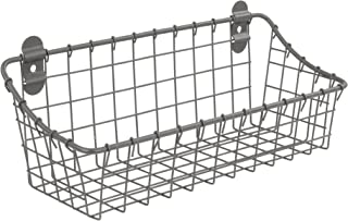 Spectrum Diversified Vintage Cabinet & Wall Mount Basket, Small, Industrial Gray