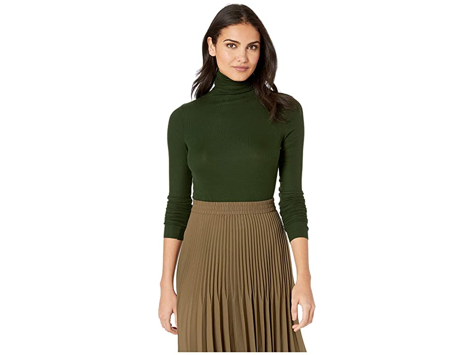 Image of AG Adriano Goldschmied Chels Turtleneck (Verdant) Women's Clothing