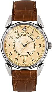[クエルボ・イ・ソブリノス]Cuervo y Sobrinos 腕時計 紳士用 GMT 3196-1C メンズ 【正規輸入品】