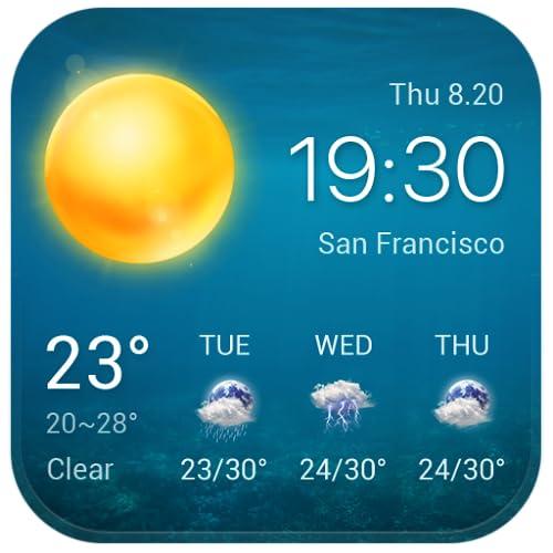 Wetter und Uhr Widget