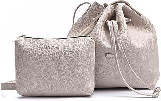 抽绳桶袋 2 件套,Artmis 女士小号斜挎钱包 PU 皮