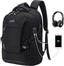 Tzowla Travel Laptop Backpack Anti-Theft Water Resistant Business Backpack TSA Lock & USB Charging Port TSA Friendly Computer Backpack Men Women College School Bag Fit 16 inch Laptops… (Black)