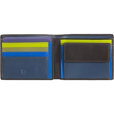 Mehrfarbige hochkant Geldbörse mit Reißverschluss von DuDu Blau