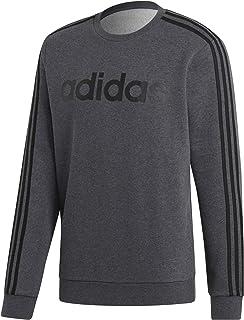 adidas Men's Essentials 3-stripes Crewneck Fleece Fleece Jacket