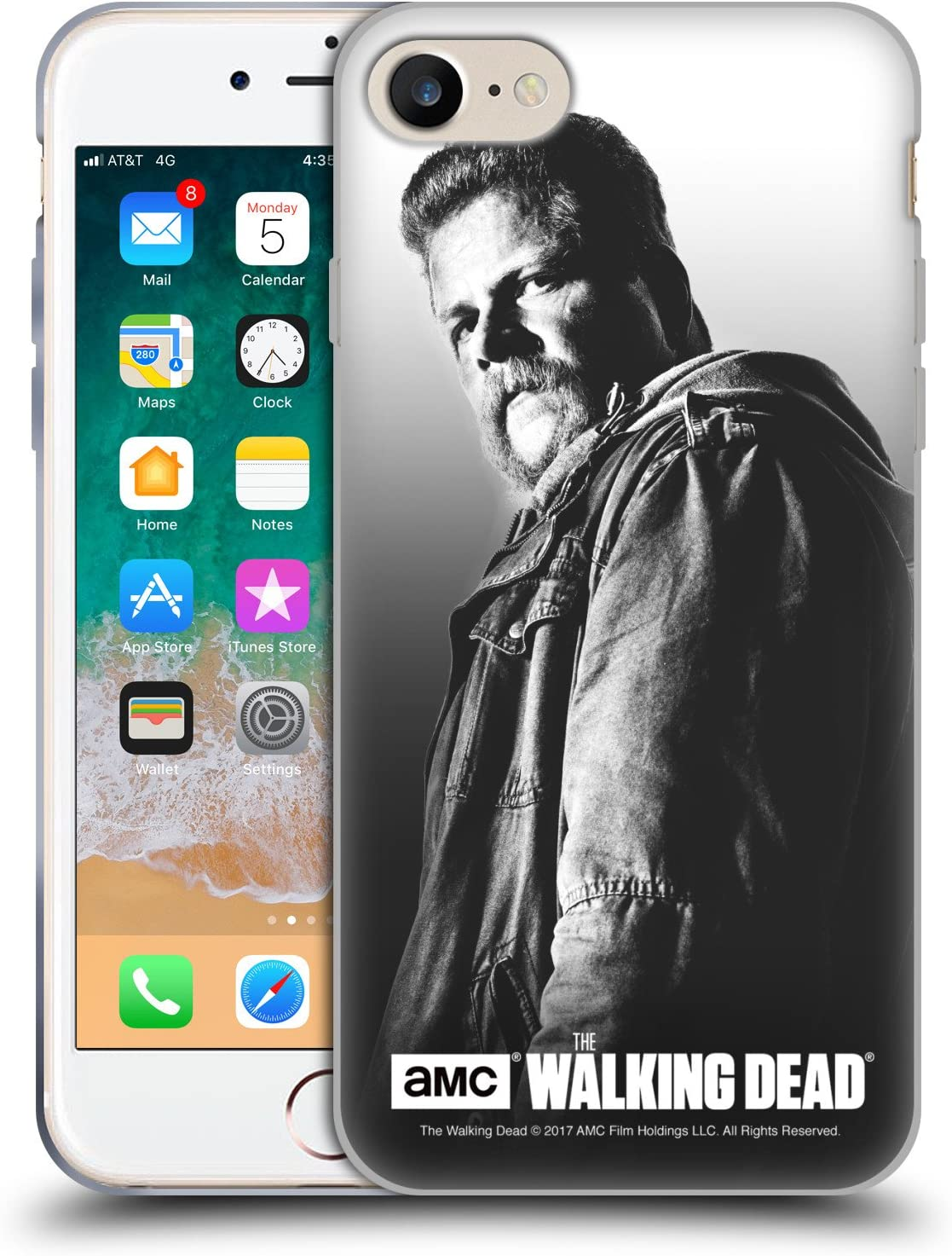Head Case Designs Officially Licensed AMC The Walking Dead Abraham Filtered Portraits Soft Gel Case Compatible with Apple iPhone 7 / iPhone 8 / iPhone SE 2020