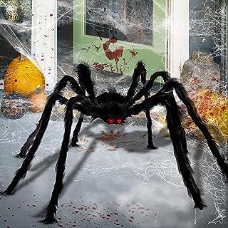 LOVEXIU Arañas Halloween De Terror 130CM,Halloween Decoracion Aranas,Halloween Arañas,Arañas De Halloween Decoracion Lapid...