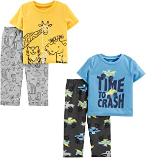 Simple Joys by Carter's Toddler Boys' 4-Piece Loose Fit Polyester Pajama Set