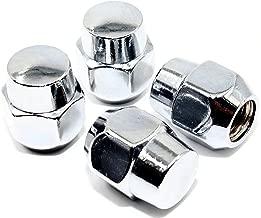 Set of 20 Veritek 12x1.5mm 13/16 21mm Hex 1.07 Inch 27.2mm Length Chrome OEM Factory Style Acorn Seat Lug Nuts for Mazda Hyundai KIA Factory Wheels